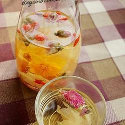 杜鹃玫瑰枸杞莲花茶的做法[图]