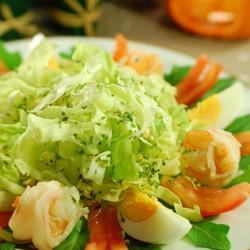 生菜虾沙拉佐吞拿鱼酱的做法[图]
