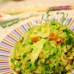 虾米炒卷心菜的做法[图]