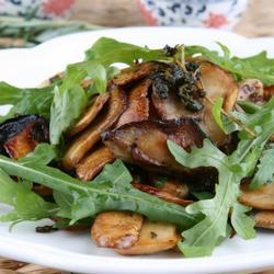 香草黑椒烤蘑菇的做法[图]