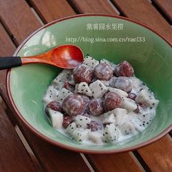 紫薯圆水果捞的做法[图]