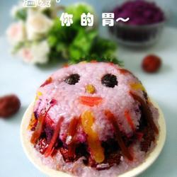 紫薯八宝饭的做法[图]