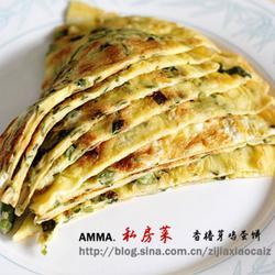 香椿芽鸡蛋饼的做法[图]