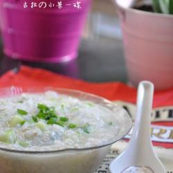 黄瓜肉末粥的做法[图]