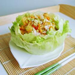 创意生菜鱼松盅的做法[图]