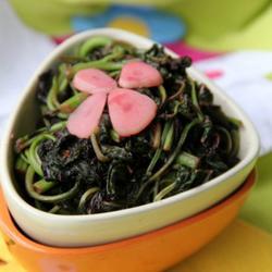 春蒜炒苋菜的做法[图]