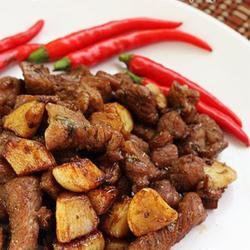 孜然蒜香羊肉粒的做法[图]