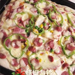 杏鲍菇香肠杂烩披萨的做法[图]
