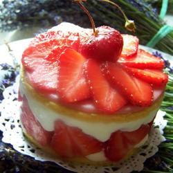 法式草莓奶酪蛋糕的做法[图]