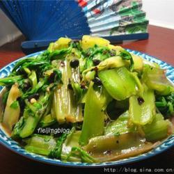 蒜茸豆豉炒猪乸菜的做法[图]