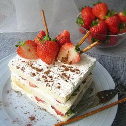 奶油草莓土司塔的做法[图]