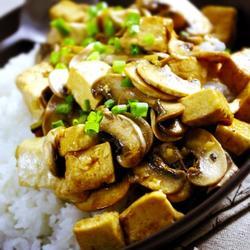 口蘑豆腐饭的做法[图]