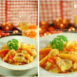 木瓜鸡酱银鳕鱼的做法[图]