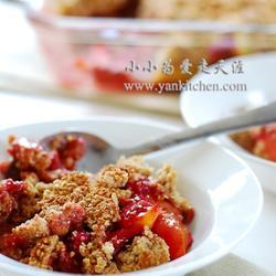 黄桃草莓燕麦酥的做法[图]