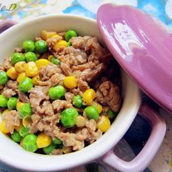 豌豆玉米炒嫩牛肉的做法[图]