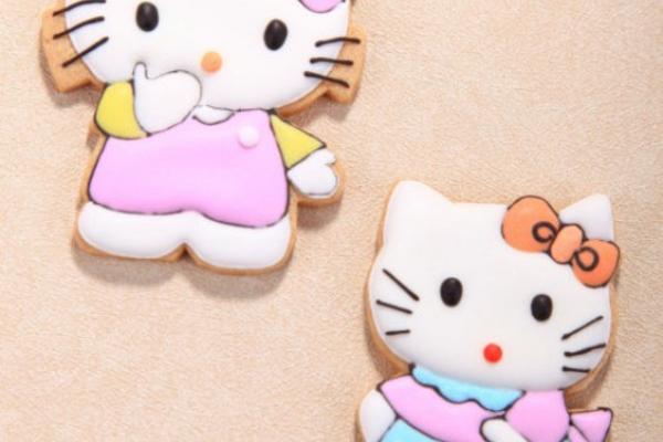 KT猫翻糖饼干