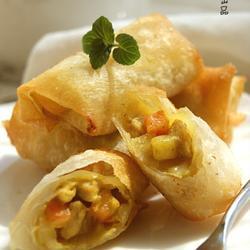 脆皮咖喱猪肉卷的做法[图]