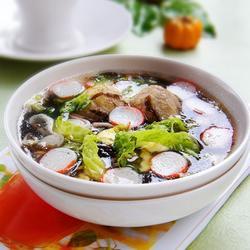 贡丸虾皮紫菜汤的做法[图]