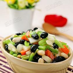 黑豆杏仁杂拌菜的做法[图]