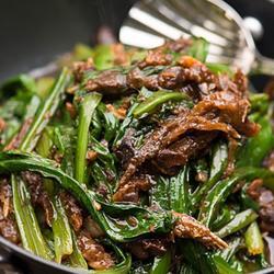 豆豉鲮鱼油麦菜的做法[图]