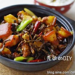 干豇豆红烧肉的做法[图]