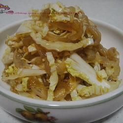 白菜芯拌海蛰皮的做法[图]