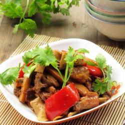 腐乳汁杏鲍菇烧鸡的做法[图]