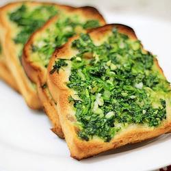 香菜蒜烤面包的做法[图]