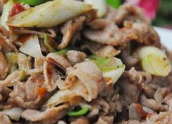 大葱炒羊肉片