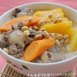 木瓜黄豆牛尾汤的做法[图]