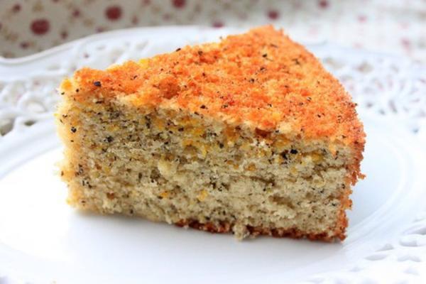橙香红茶海绵蛋糕