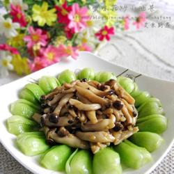 蟹味菇炒小油菜的做法[图]