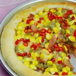 酸豆角火腿芝心披萨的做法[图]