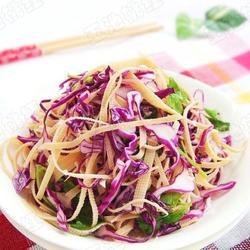 紫甘蓝拌豆腐丝的做法[图]