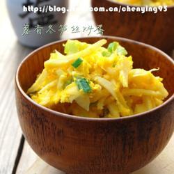 葱香冬笋丝炒蛋的做法[图]