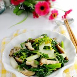 鮮菇炒白菜心的做法[圖]