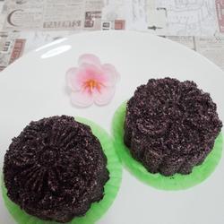 普洱茶香玫瑰紫米糕的做法[图]