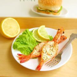 大蒜黄油烤鲜虾的做法[图]