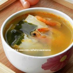 豆腐海藻鲜虾汤的做法[图]