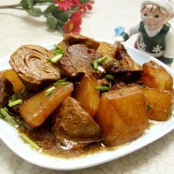 蘿卜素雞燒牛肉的做法[圖]