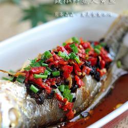 豉椒鲜蒸大黄鱼的做法[图]