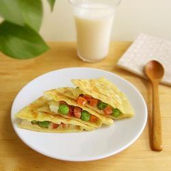 沙拉蛋皮煎饼的做法[图]