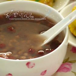 玉米糊饼&高粮米红豆粥套餐的做法[图]