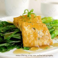 姜汁芥蓝豆腐的做法[图]