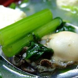 海蛎子茼蒿炖豆腐的做法[图]