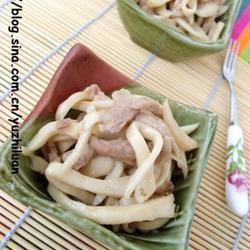 杏鲍菇炒肉丝的做法[图]