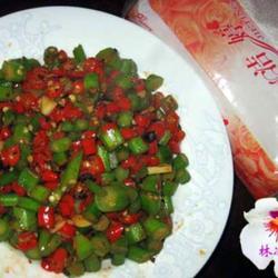 豆豉米椒炒芥蓝的做法[图]
