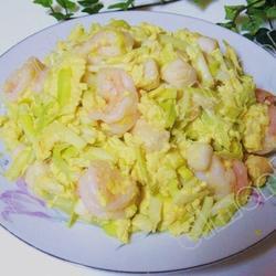 韭黄虾炒蛋的做法[图]