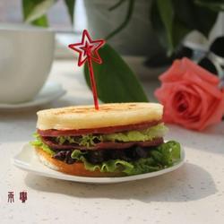 香菇酱火腿三明治的做法[图]