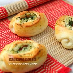 黄油香蒜熏肉肠面包的做法[图]